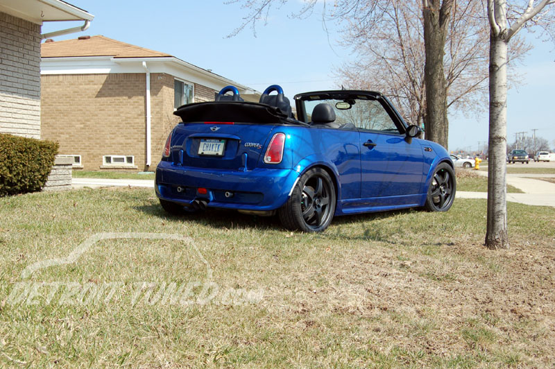2005 Hyper Blue MINI Cooper S Cabrio - Chakik rear