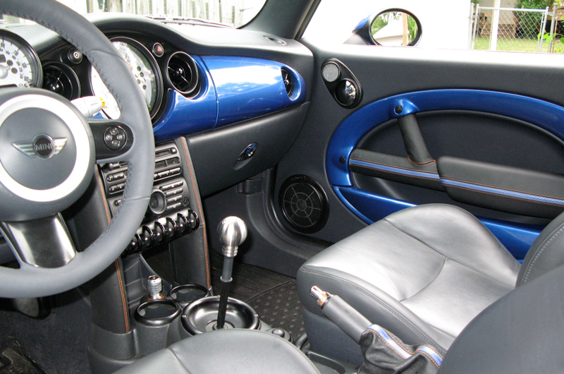 Redline Leather custom mini interior doors