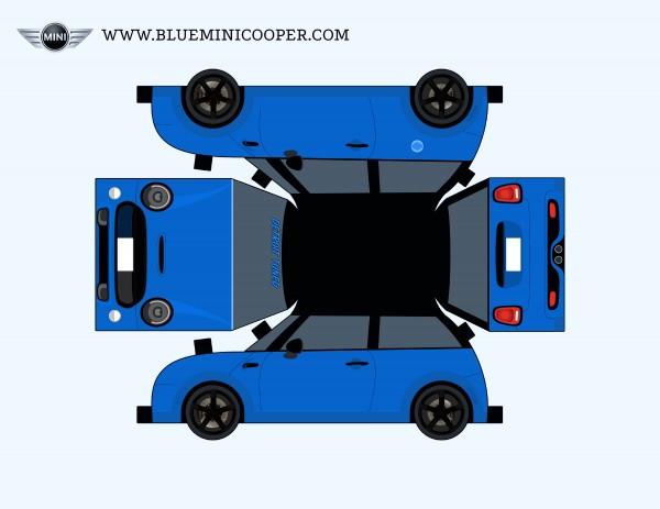 PaperBlueMINICooper