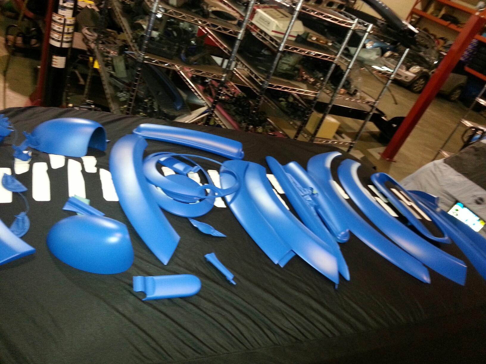 Many Matte Blue Parts
